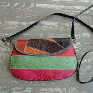 Vintage muticoloured leather purse